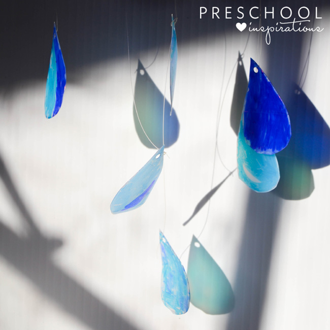 Beautiful rain cloud suncatcher