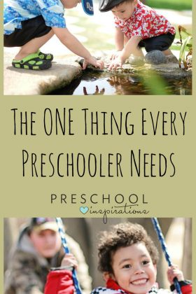 Don't Worry, Parents of Preschoolers - Playing IS Learning. Preschool Inspirations.
