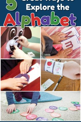 Need some great ideas to teach the alphabet! Here are five ways to explore the alphabet!