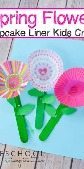 Spring Cupcake Liner Flowers Craft