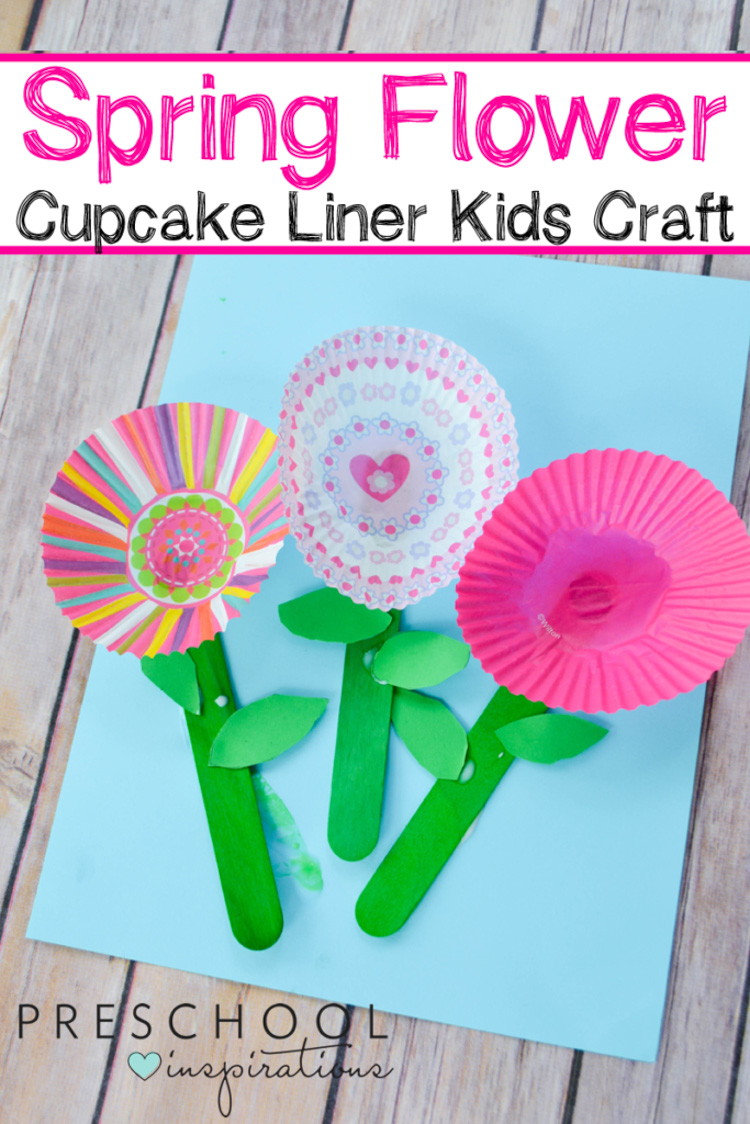 Cupcake Liner Flowers craft