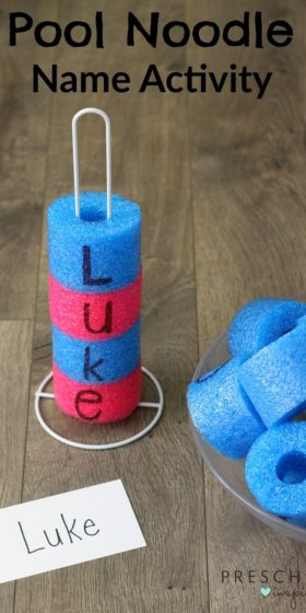 Pool Noodle Name Recognition Activity