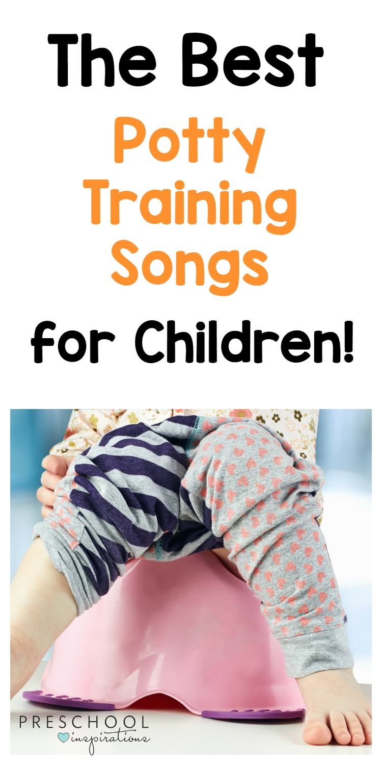 Need help potty training your child? Here are some of the best songs for helping when you are potty training! Potty training songs make potty training a lot mor enjoyable and fun! #toddler #preschool #pottytraining #songsforkids #pottytrainingtips