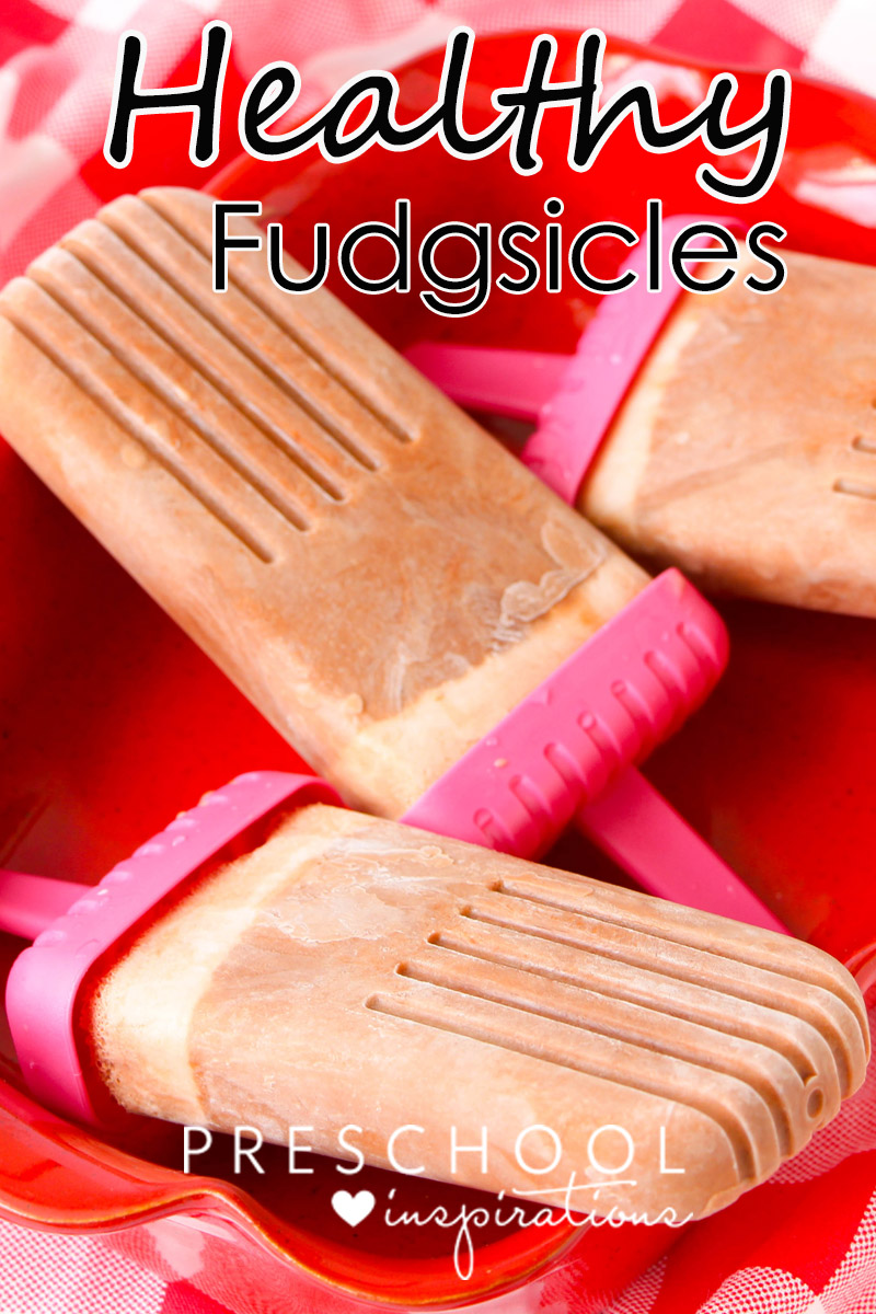 Healthy fudgsicles are an easy and delicious treat made of Greek yogurt.  The children will think it's a treat, but you will know it's healthy.