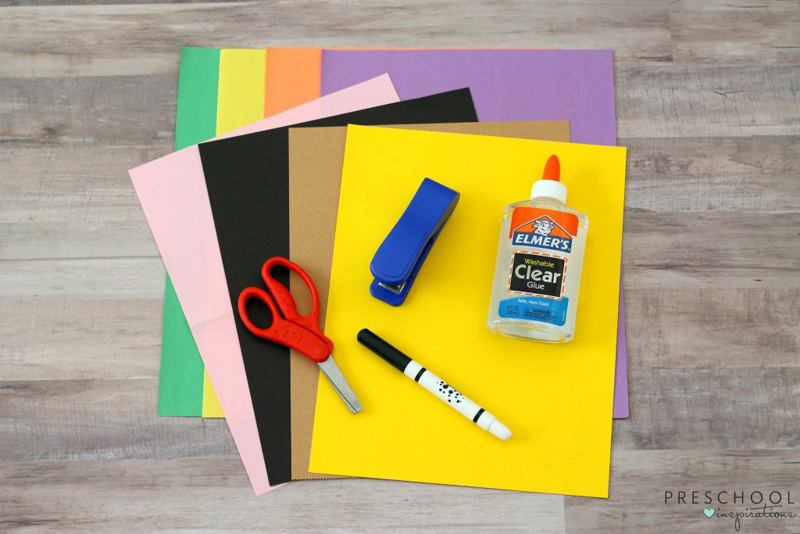 Supplies needed to make a back to school craft for preschool