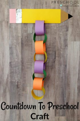 This Countdown to Preschool Craft is a fun and interactive way for children to countdown to the first day of school. Your child will love tearing the loops as he or she prepares to start school for the first time.
