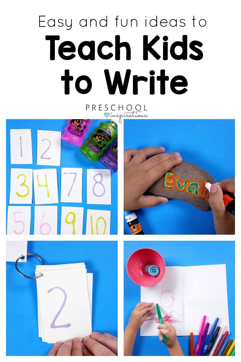 Teach Kids to write with easy and inviting handwriting activities! #preschool #kindergarten #finemotor #handwriting #namepractice #montessori #letters #literacycenters