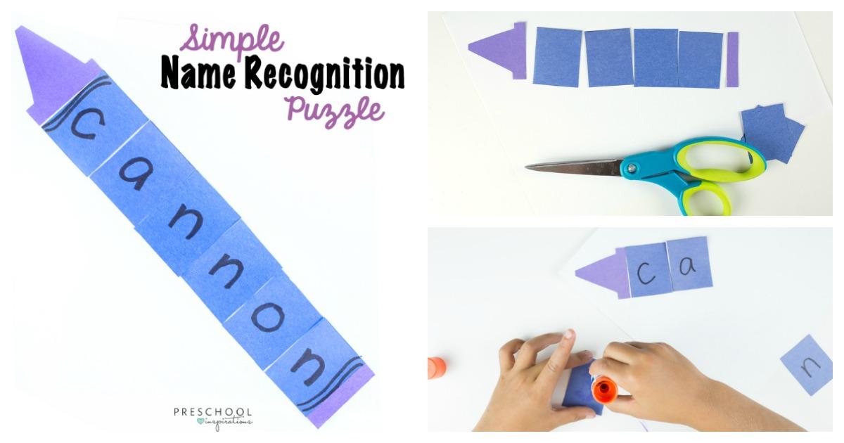 Simple Name Craft For Preschoolers Preschool Inspirations
