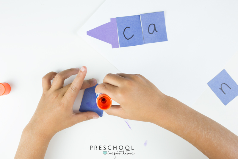 Kids will have a blast putting this name craft together