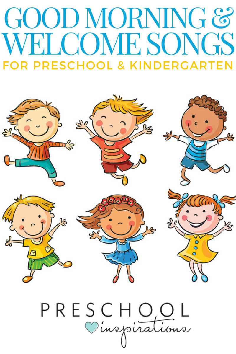 The best good morning songs and welcome songs for preschool and kindergarten! #preschool #prek #kindergarten #songs #songsforkids #music #musictheme