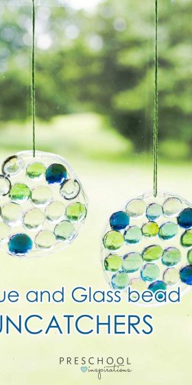 This preschool craft is a great way to decorate windows. Make a glass gem and glue suncatcher.