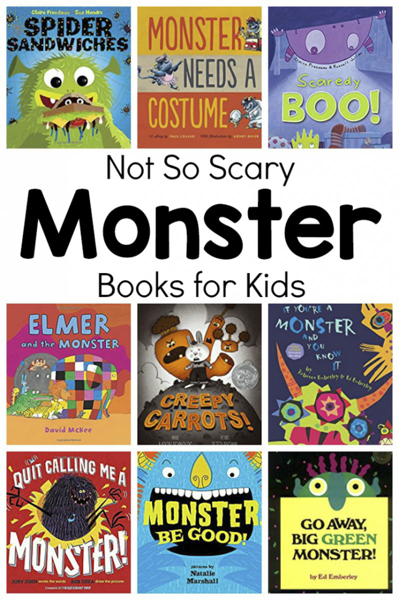 Not So Scary Monster Books for Kids #preschool #prek #toddler #booksforkids #readaloud #circletimebooks #halloweenbooks #picturebooks #monsterbooks