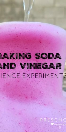Need a science activity for kids? Try all of these baking soda and vinegar science activities that are perfect science activities for preschool, kindergarten, and older!