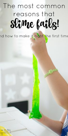 Read the most common reasons why slime fails to make sure that you get your homemade slime recipe to work right the first time!