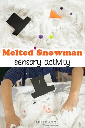 Make this winter and sensory activity perfect for building a snowman indoors!