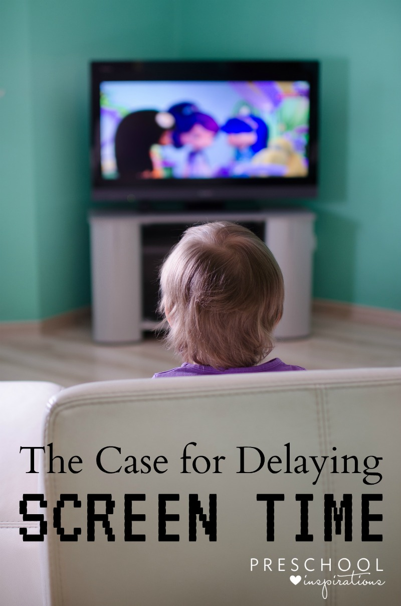 The Case for Delaying Screen Time for Kids. Why and how to limit screen time for young children, including practical guidelines. Preschool Inspirations.