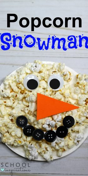 Paper Plate Snowman Craft with a Popcorn Twist