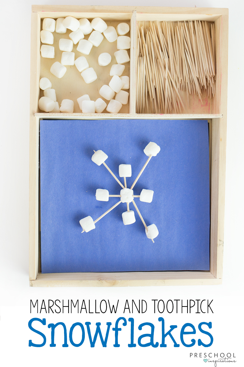 Marshmallow and Toothpick Snowflake STEM Activity the Kids Will Love