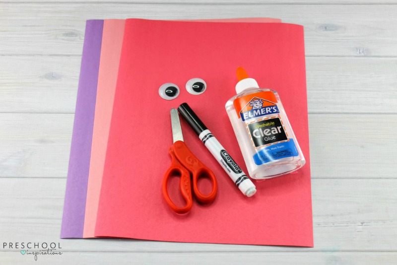 Puppy love preschool heart craft supplies