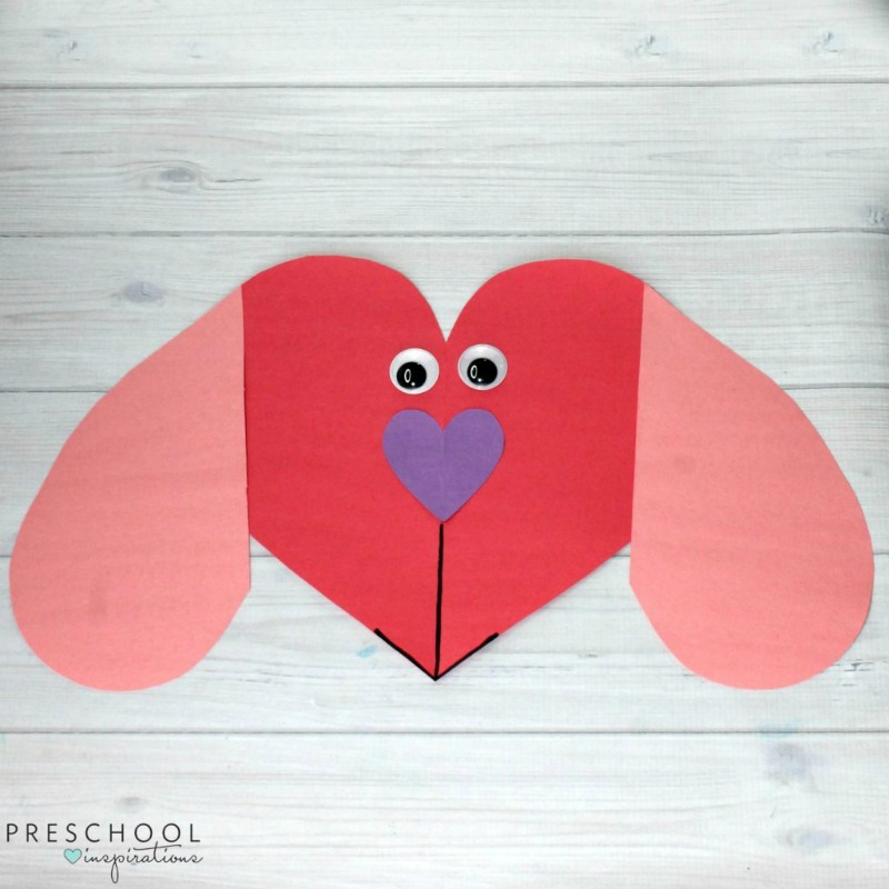 Puppy Love Valentine's Day Preschool Heart Craft