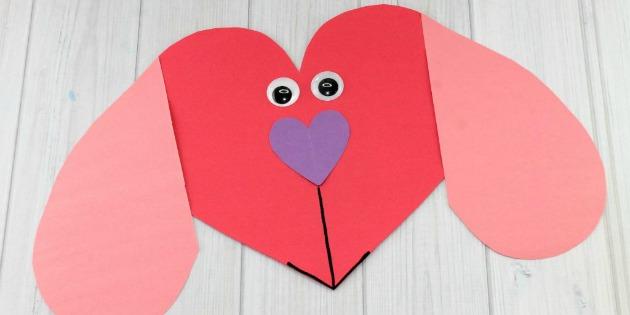 Puppy Love Preschool Heart Craft to Make this Valentine\'s Day
