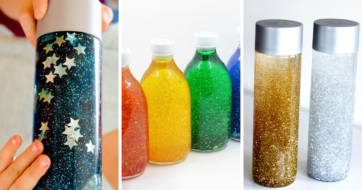Calming Glitter Jars For Relaxation And Mindfulness