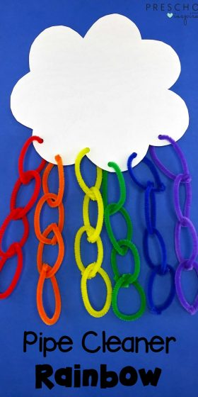 How to Make a Preschool Rainbow Craft with Pipe Cleaners