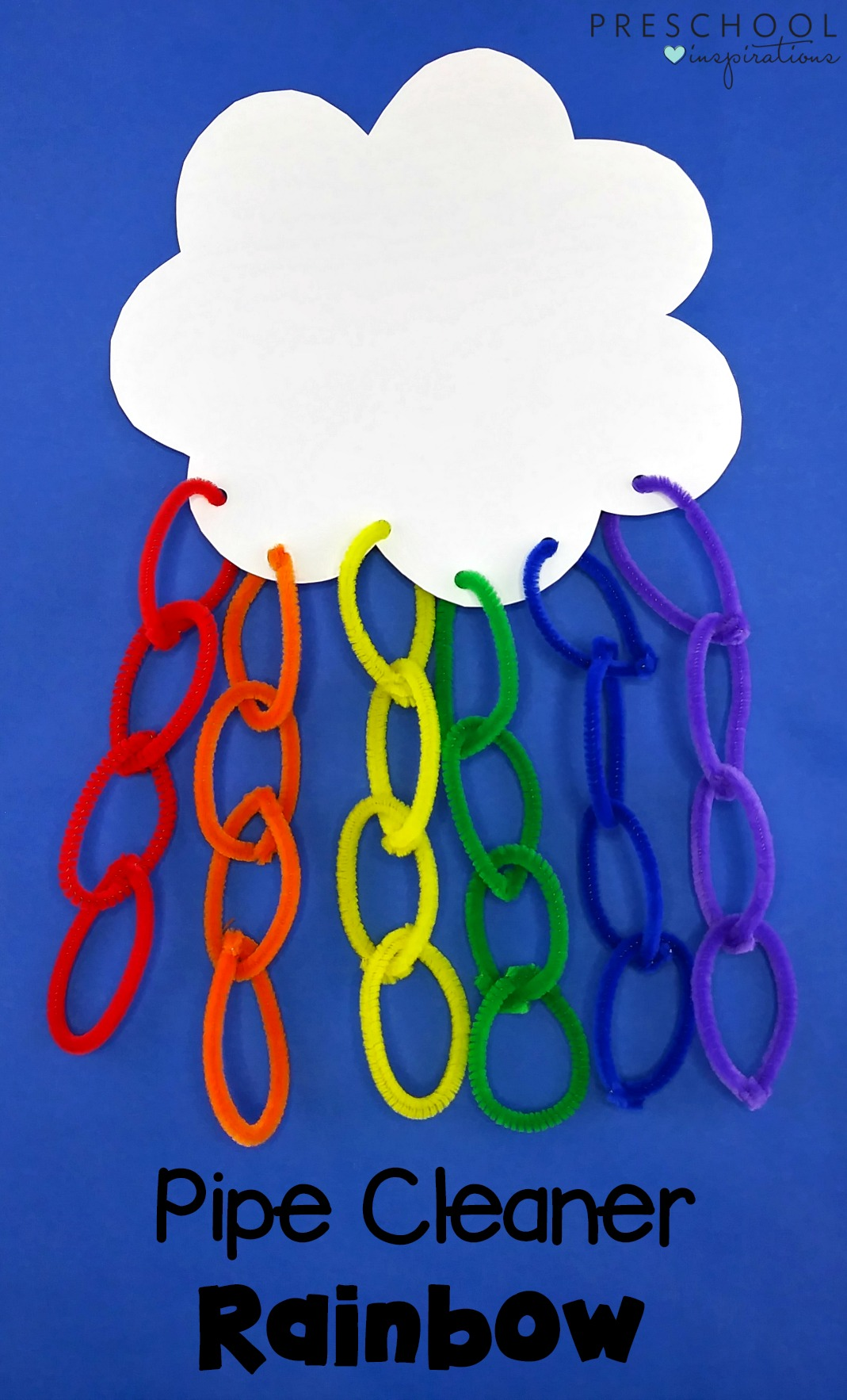 How to make a pipe cleaner rainbow craft with kids