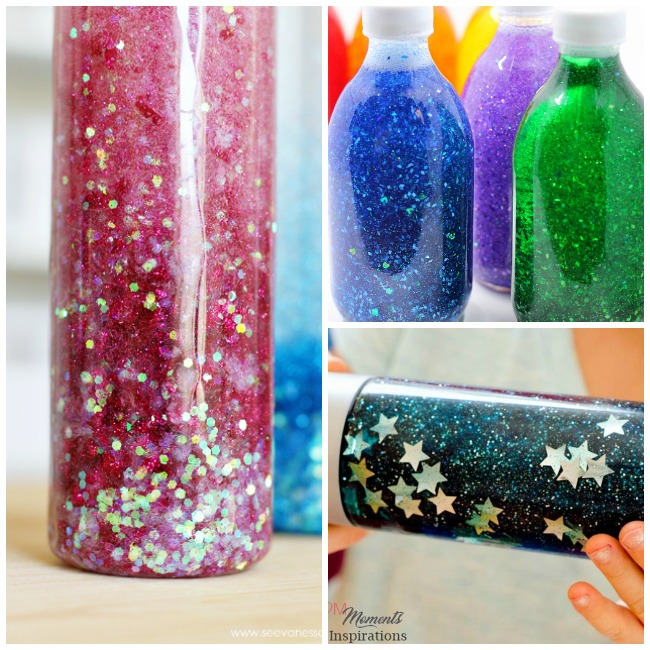 Glitter Jar tutorials that are perfect for the classroom or home. These calming jars will help evoke tranquility and help to soothe children who are anxious, hyperactive or having trouble dealing with tough emotions. These also make fabulous time out timers.