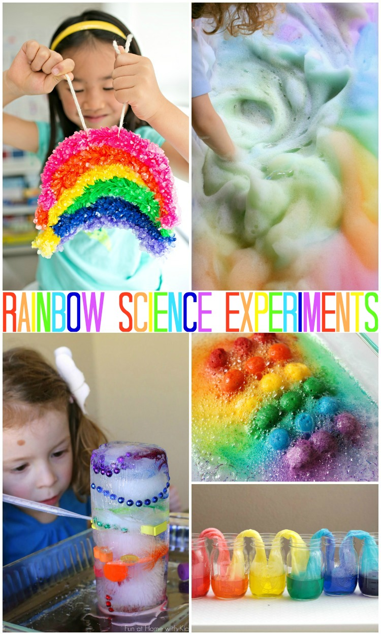 These are super fun science experiments all about Rainbows. These are perfect for a rainbow unit or just for Spring fun!