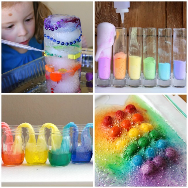 Super Fun Rainbow Science Experiments perfect for Spring!