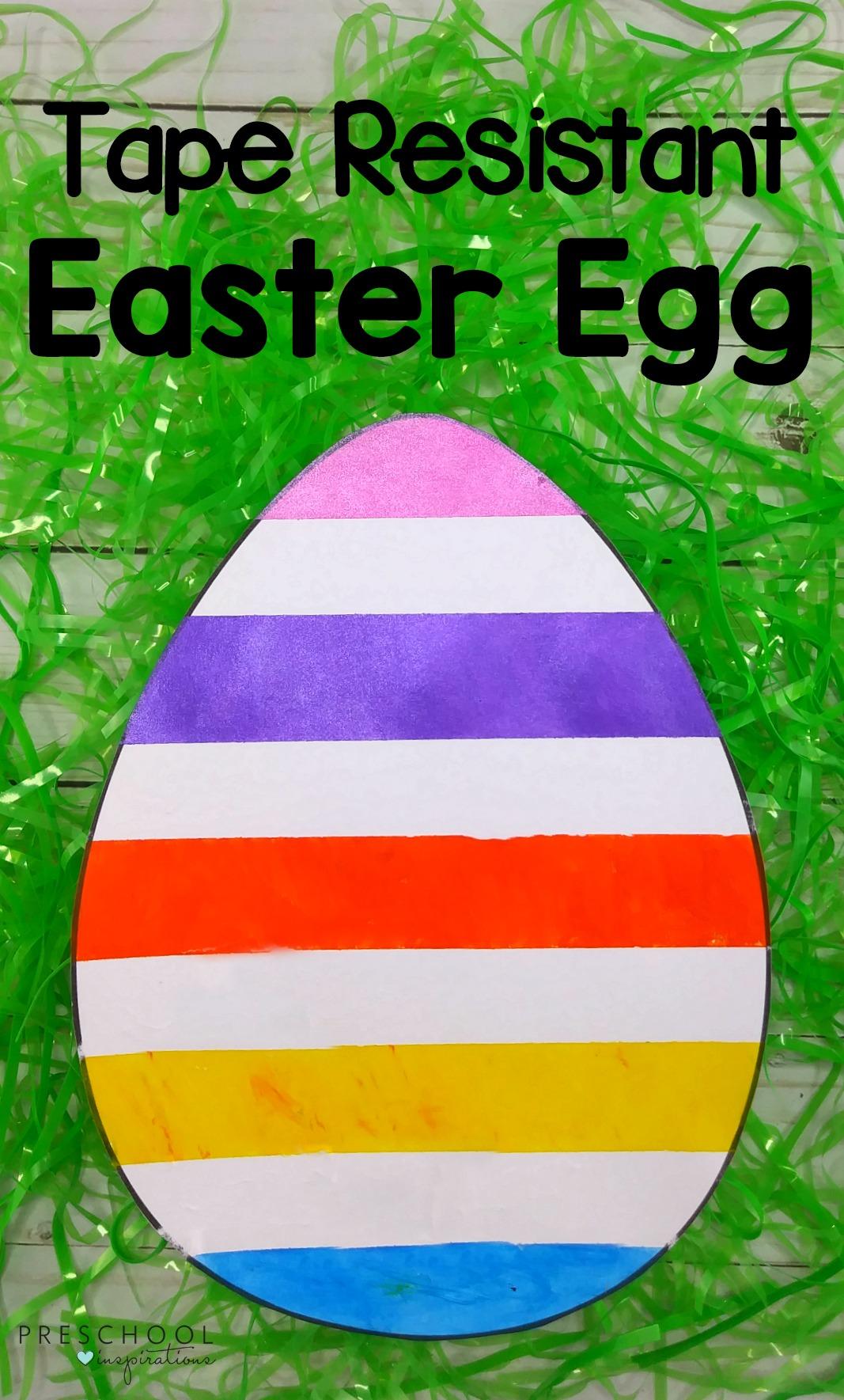 Tape resist Easter egg art the kids can make themselves