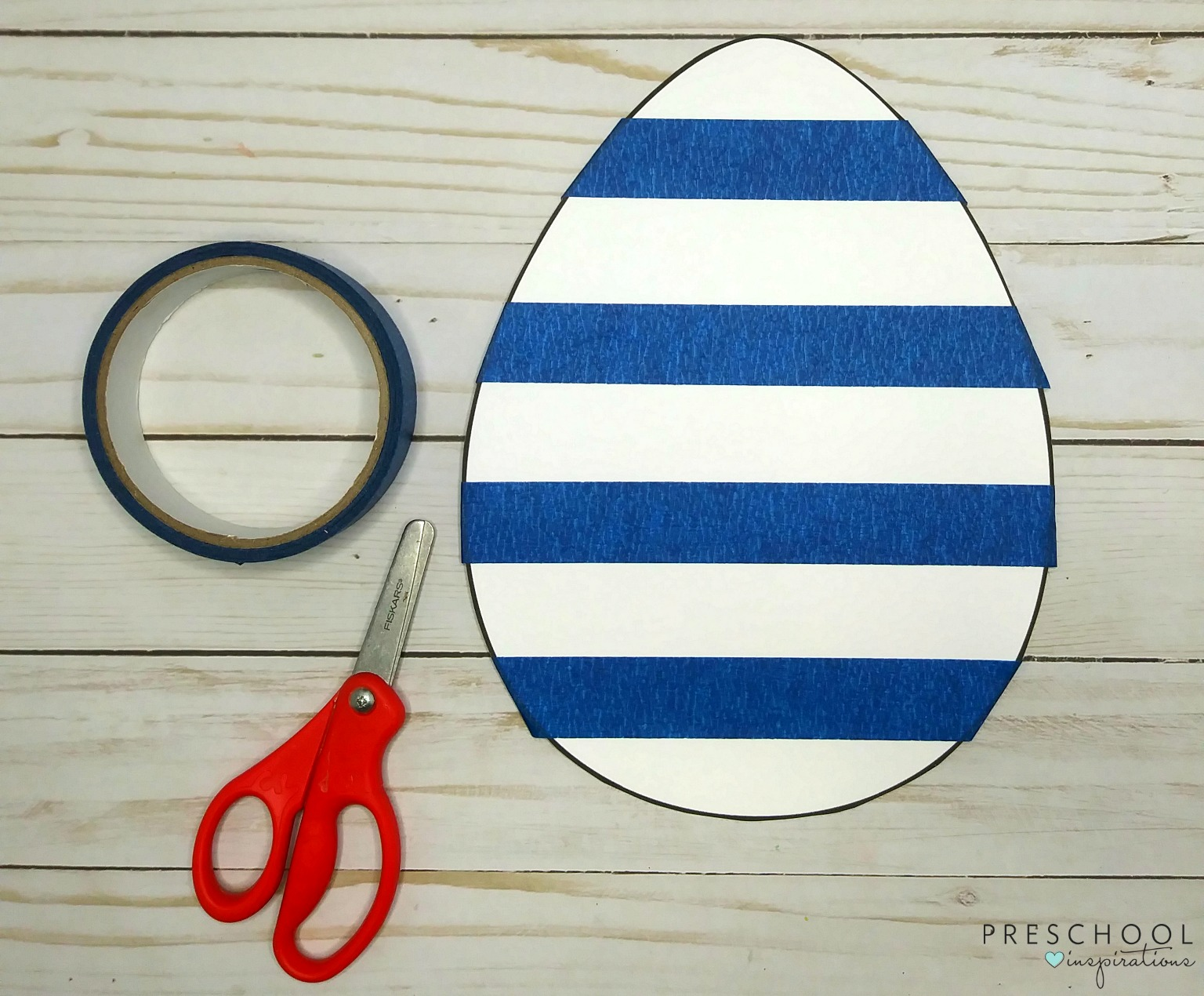 Easy to prep Easter egg art for preschoolers