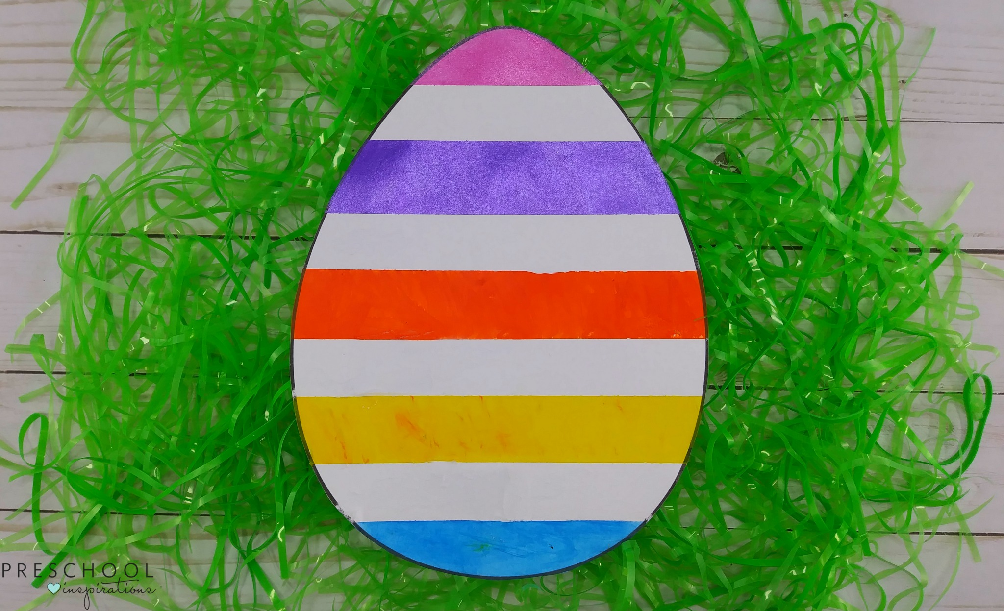 Tape resist Easter egg art