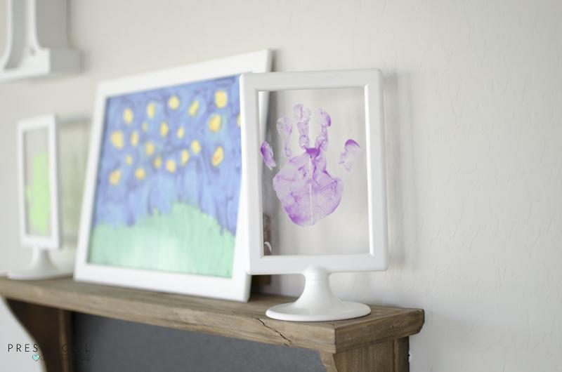 Handprint artwork for Mother's Day