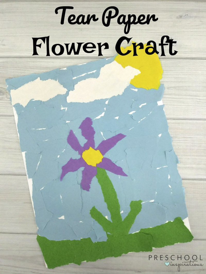 Easy torn paper flowers for kids to make this spring torn paper flowers for kids to make mightylinksfo