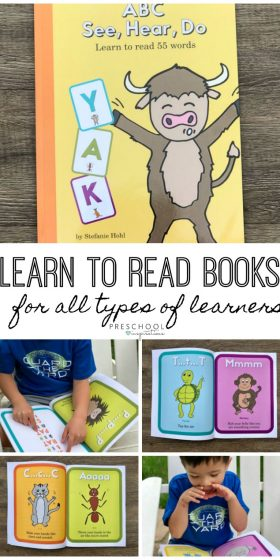 Teach kids to learn to read with this brilliant series that teaches children through their senses. ABC See Hear Do