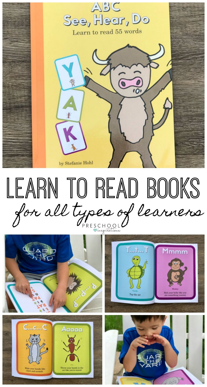 Teach kids to learn to read with this brilliant series of books to teach reading that teaches children through their senses. ABC See Hear Do #preschool #prek #earlyreading #learntoread #phonics