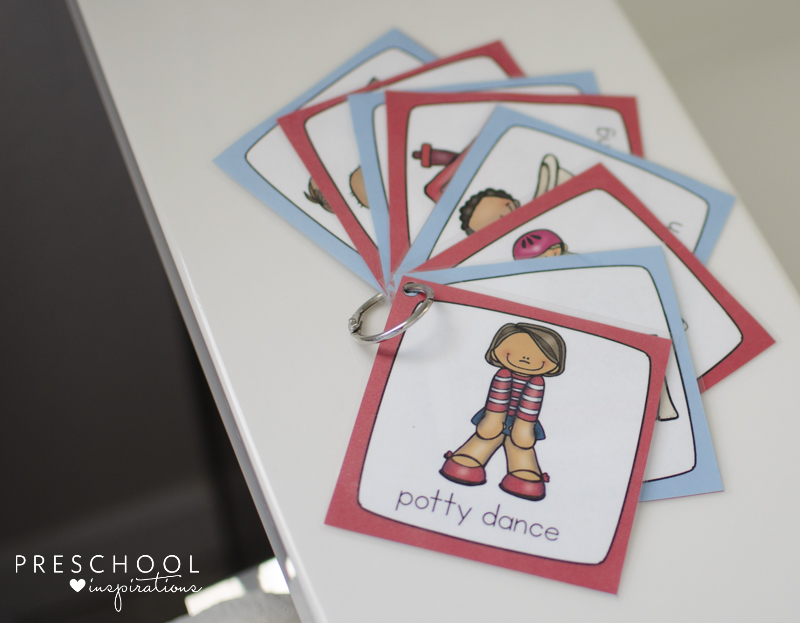 Potty training routine cards