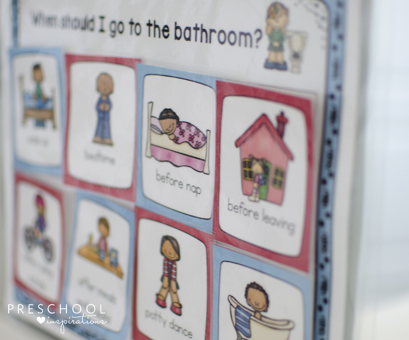potty training chart and visual schedule