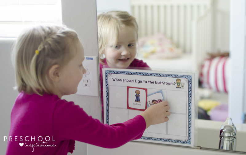 Using the potty training chart