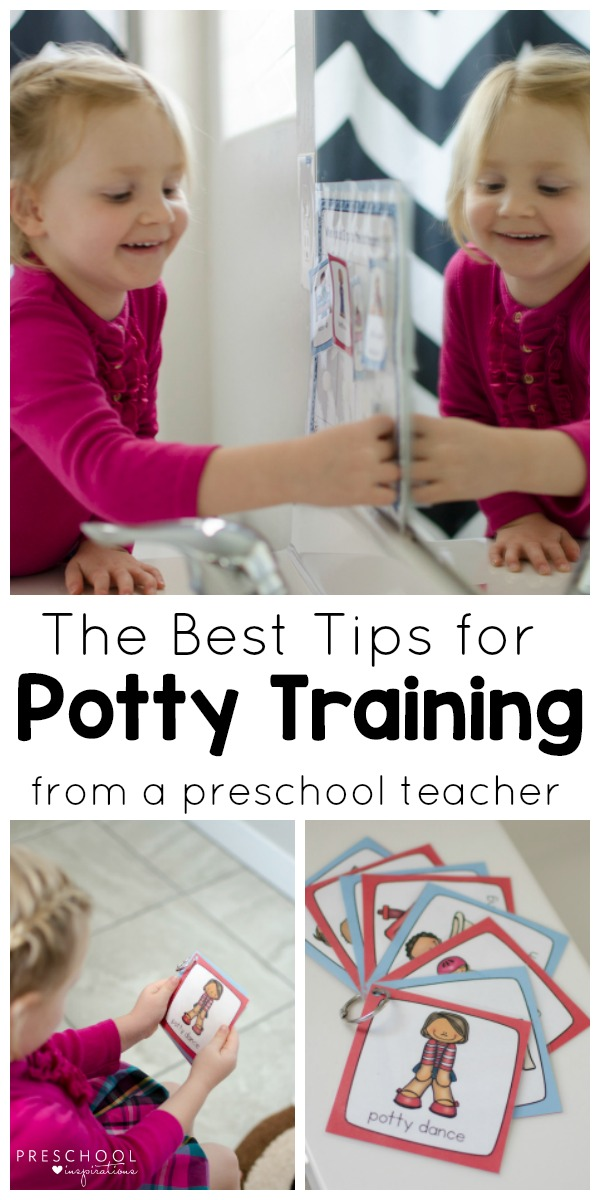 Get potty training tips from a veteran preschool teacher and learn how to use a potty training chart. #parenting #pottytraining #toddler #preschool