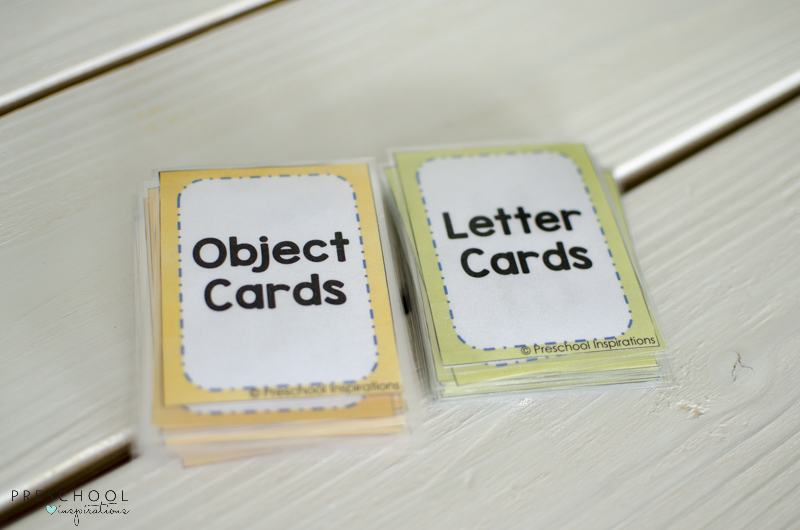 object cards and letter cards