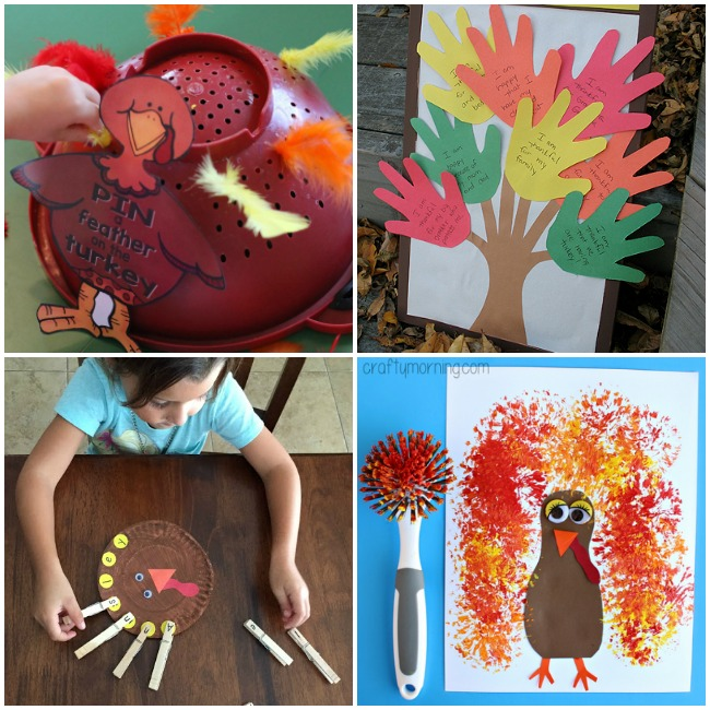 Turkey and Thanksgiving activities for preschool