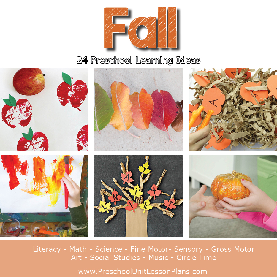 fall theme lesson plan for preschool