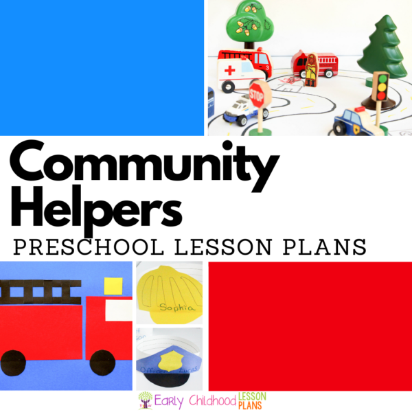 cover image for community helpers preschool lesson plans