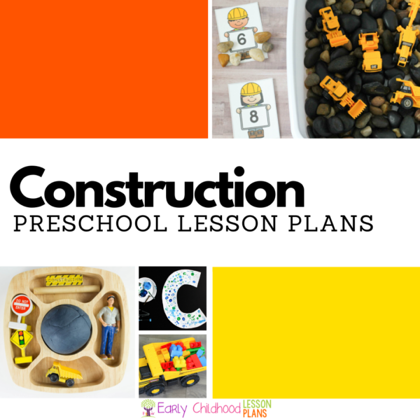 cover image for preschool construction lesson plans