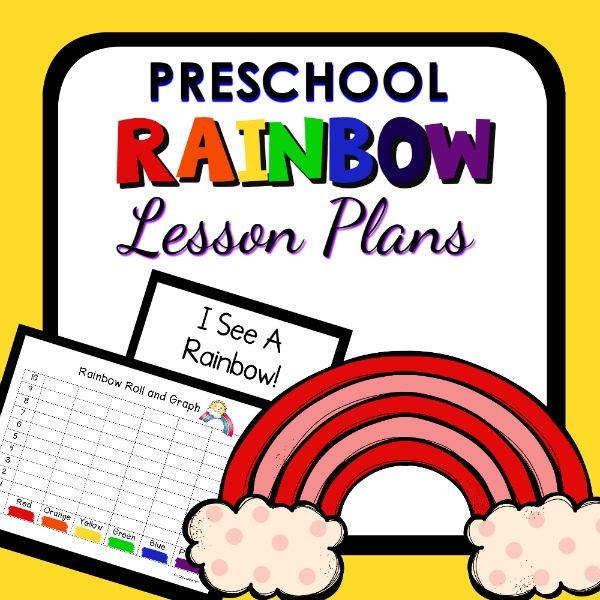 cover image for preschool rainbow lesson plans