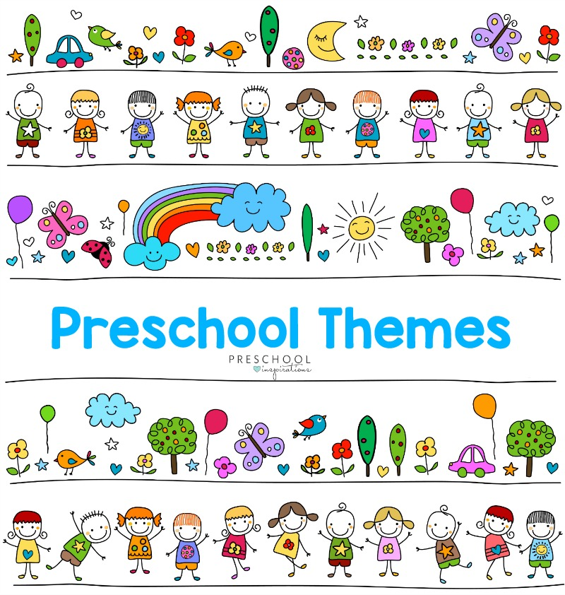The ultimate list of preschool themes, including lesson plans, books, crafts, and so much more! #prek #preschool #preschoolthemes #preschoolplanning #preschoolideas #aboutmetheme #weathertheme