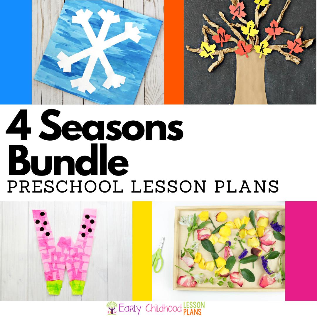 cover image for four seasons lesson plans bundle
